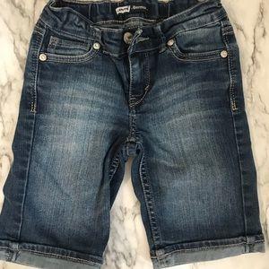 Levi's jeans bermuda girls' shorts size 7